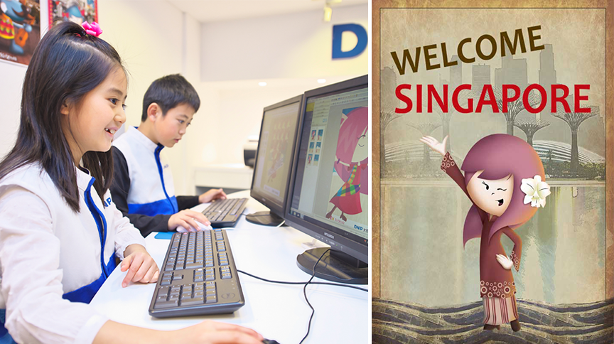 Make a Singapore themed poster at the Printing Company!
